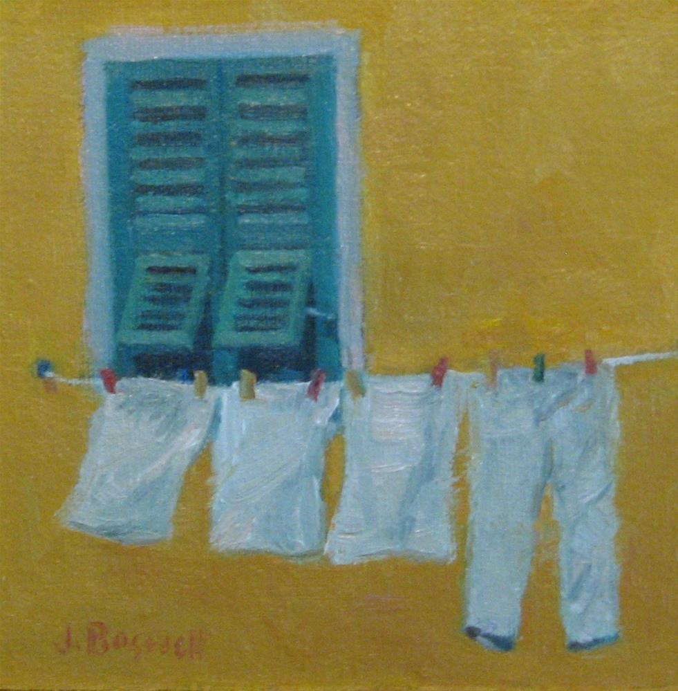 """Pants on the Line"" original fine art by Jennifer Boswell"