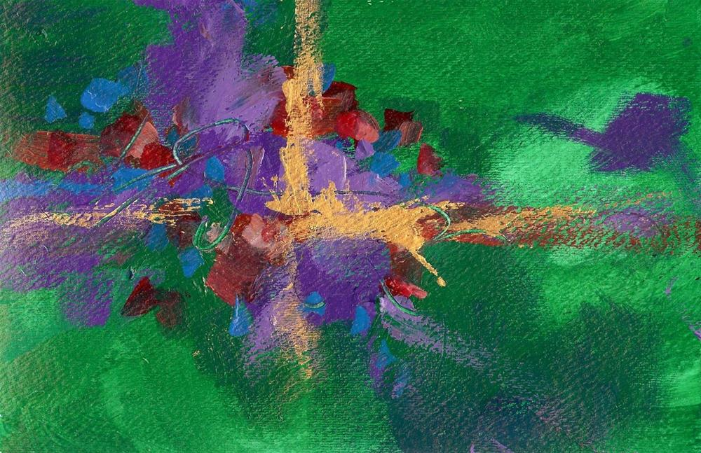 """Abstract in Green"" original fine art by Margie Whittington"