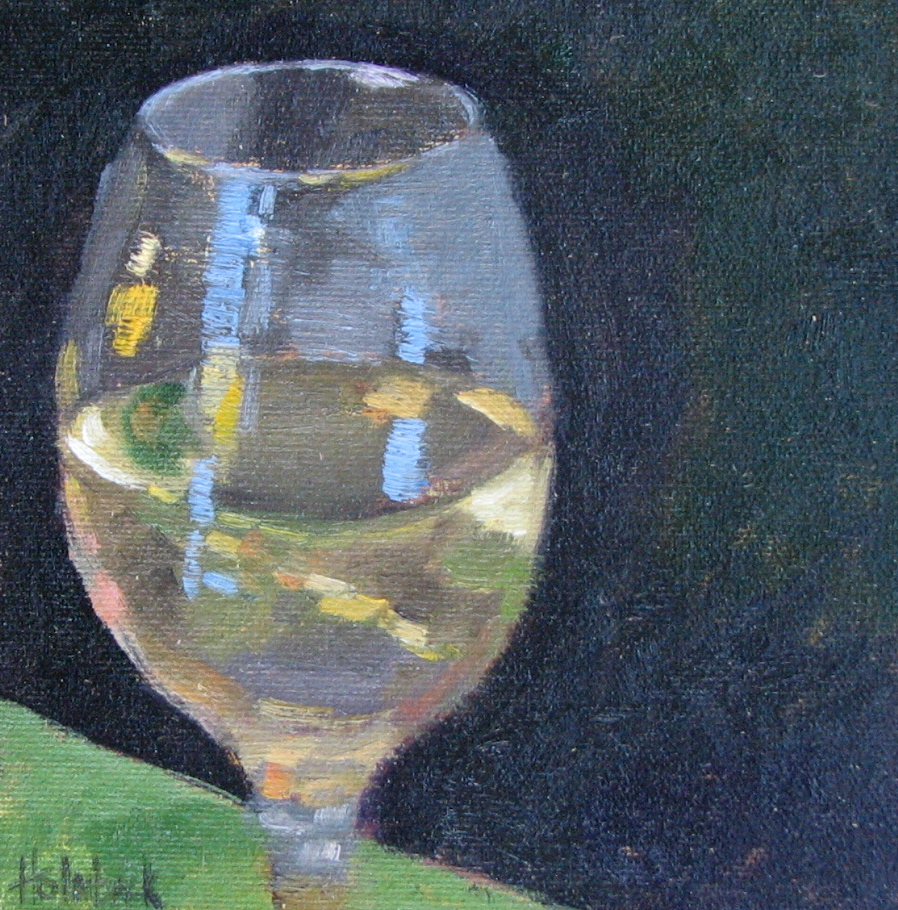 """I Prefer Chardonay"" original fine art by Pam Holnback"