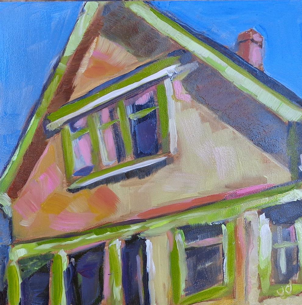 """Vancouver street"" original fine art by Jean Delaney"