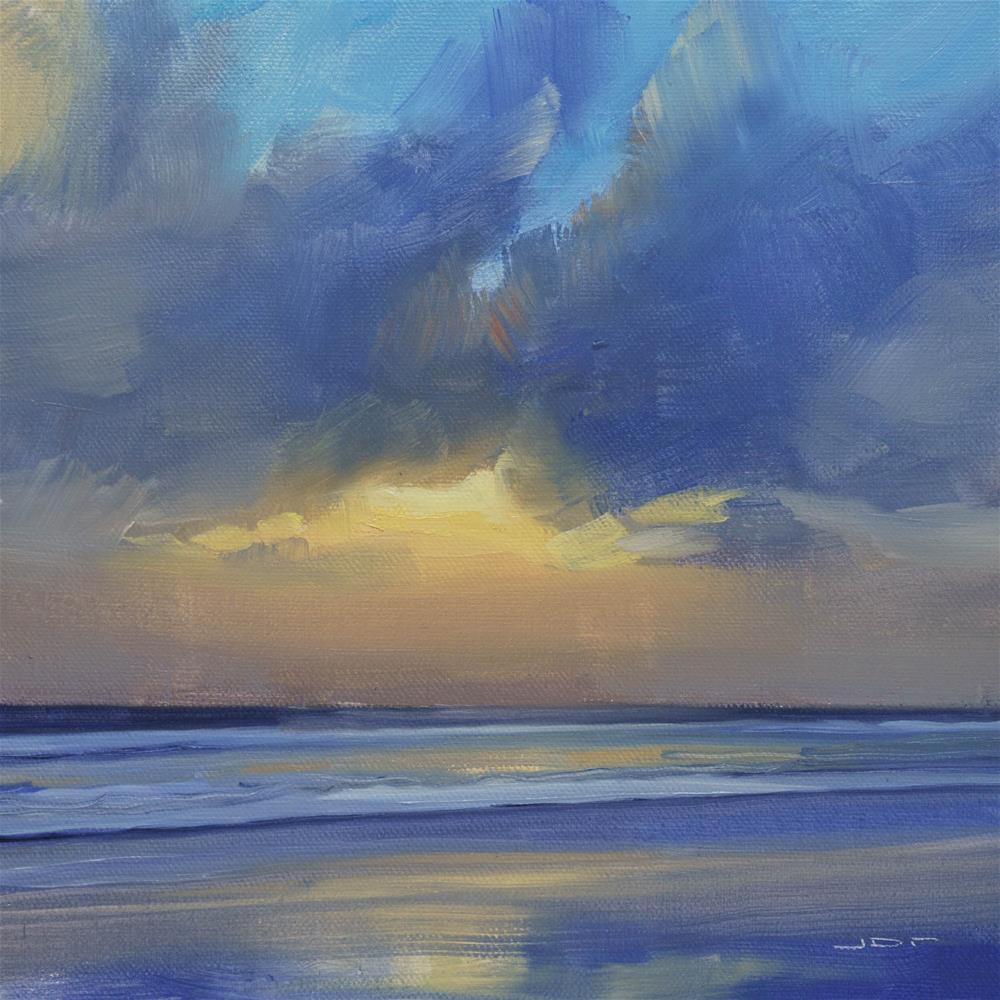 """""""Sunset Beach 2"""" original fine art by Jan-Ove Rust"""