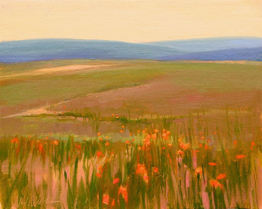 """#51 Late afternoon in Somerset"" original fine art by Nancy Wallace"