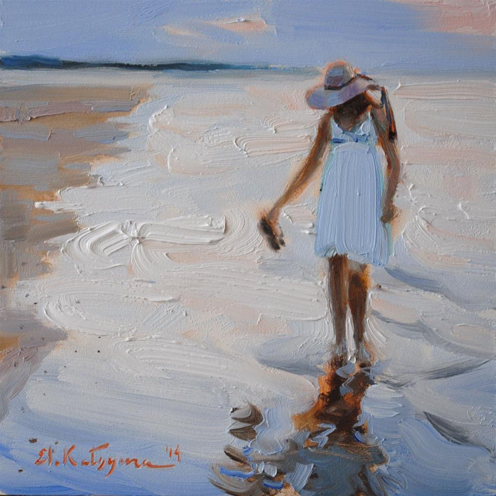 """By the Shoreline"" original fine art by Elena Katsyura"