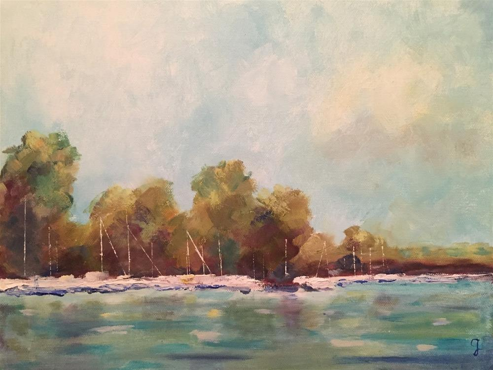 """By the Lake"" original fine art by Gayle Lambeth"