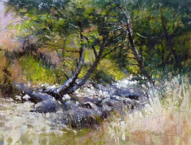 """Sweet Creek Summer"" original fine art by Barbara Benedetti Newton"