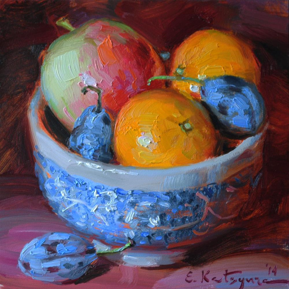 """Fruit Bowl"" original fine art by Elena Katsyura"