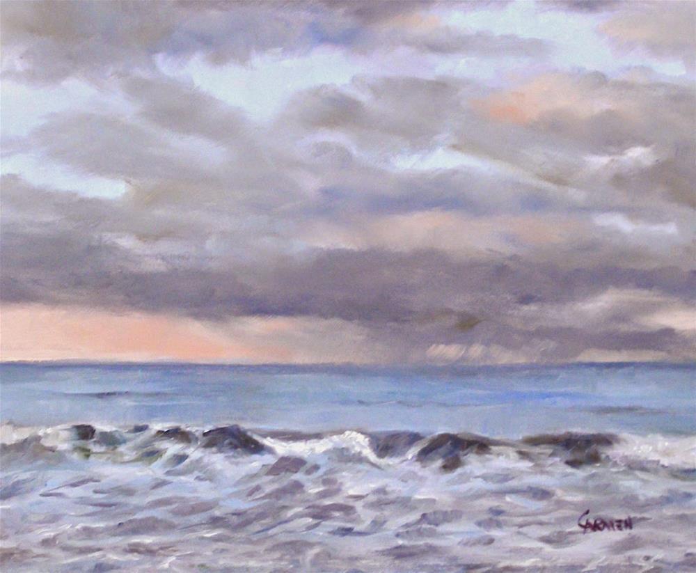 """Pastel Sea, 10x8 Original Oil Seascape"" original fine art by Carmen Beecher"