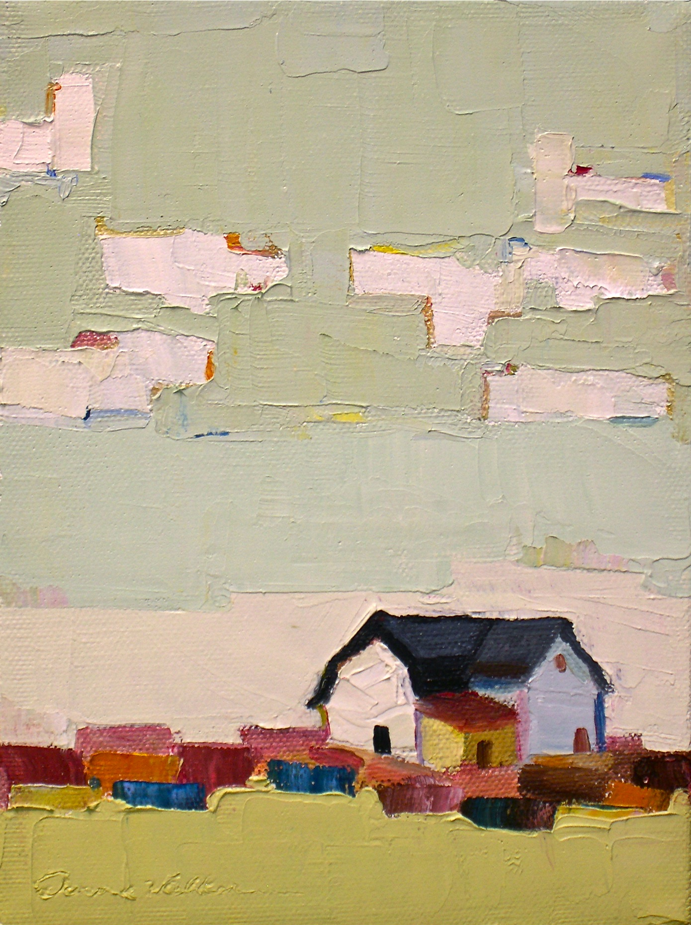 """Patchwork"" original fine art by Donna Walker"