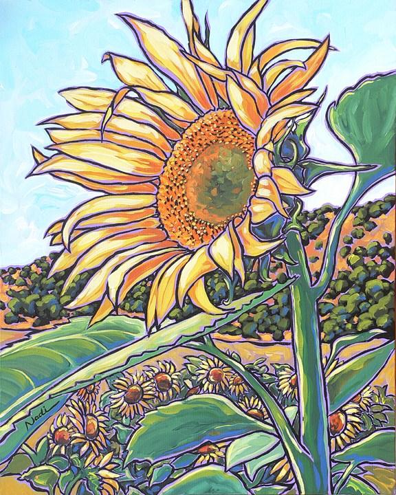 """#13/8 Sunflower"" original fine art by Nadi Spencer"