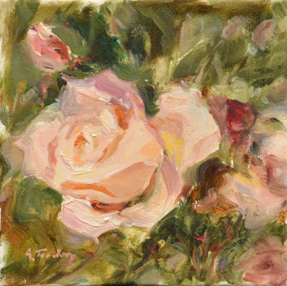 """A Rose"" original fine art by alicia tredway"
