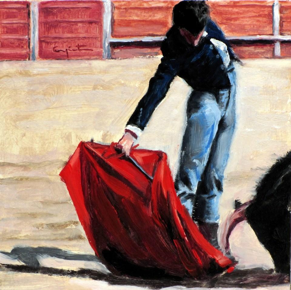 """""""Pase derechazo"""" original fine art by Eduardo Carpintero"""
