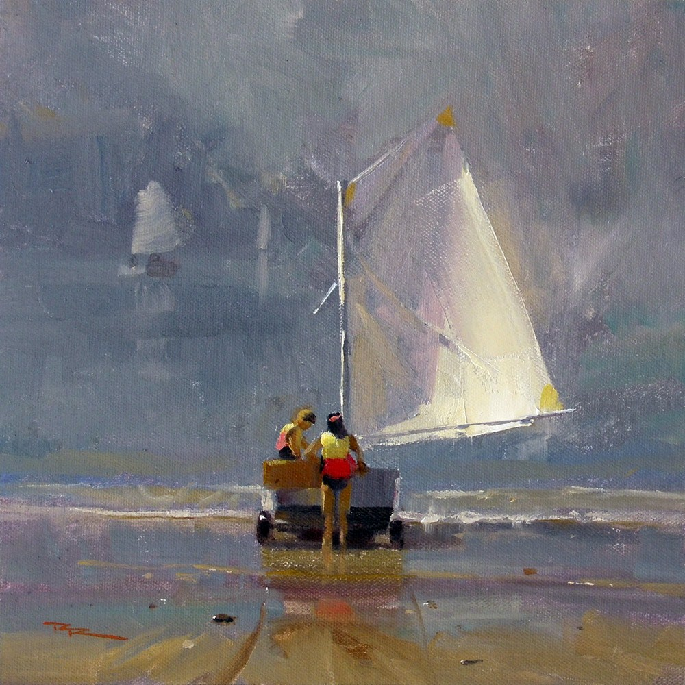 """Smooth Sailing"" original fine art by Richard Robinson"