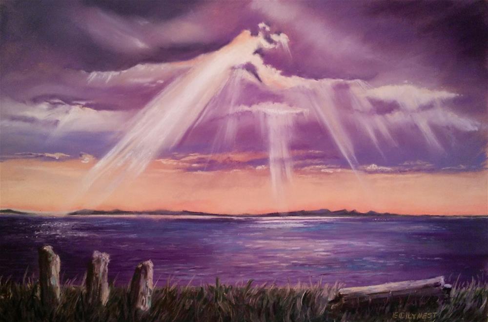 """God's Eye"" original fine art by Elaine Lynest"