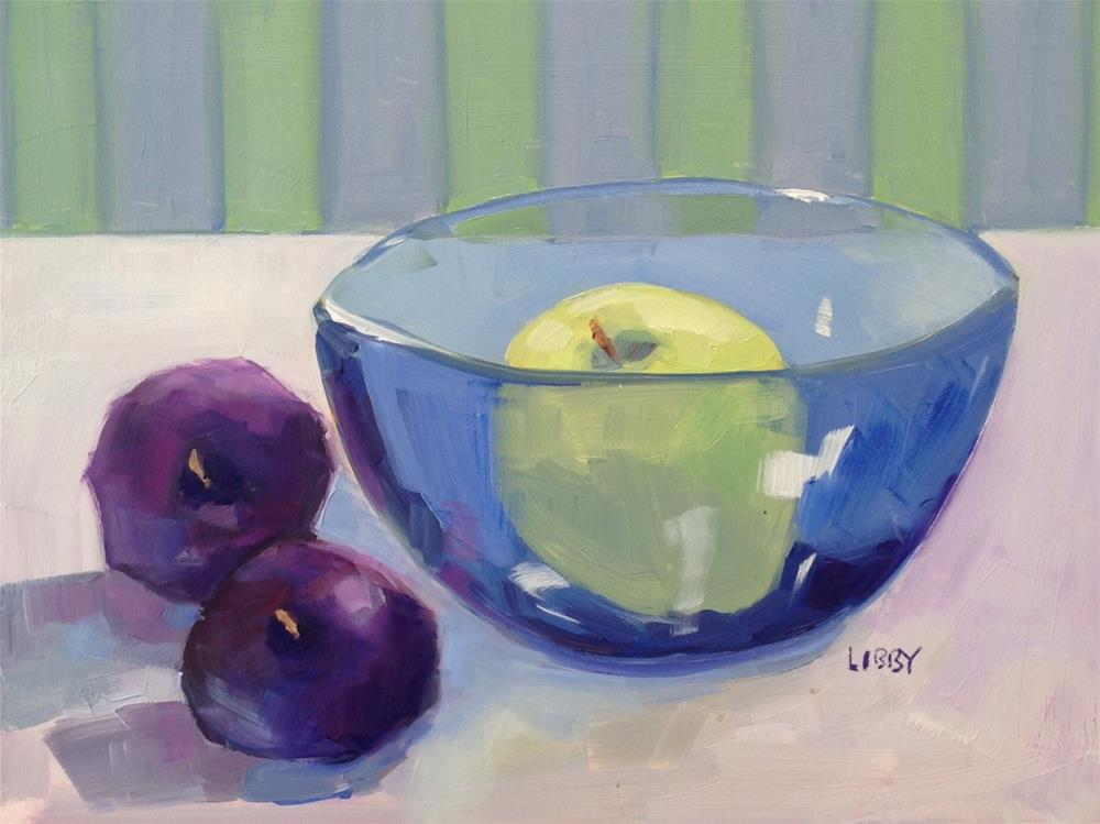 """Blue Bowl"" original fine art by Libby Anderson"
