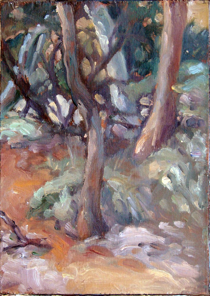 """Ruby Gap - Path"" original fine art by Myriam Kin-Yee"