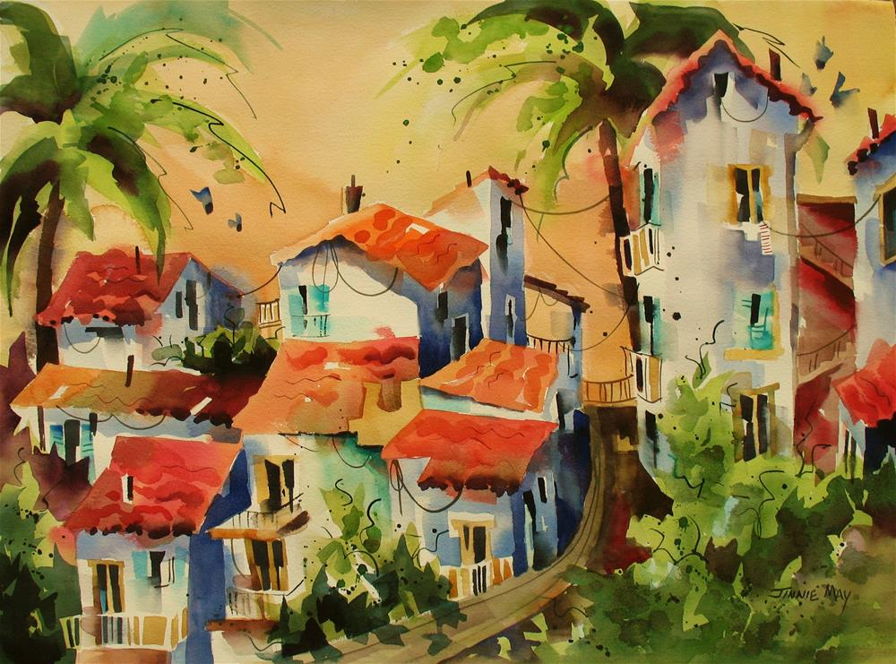 """Napoli, Italy"" original fine art by Jinnie May"