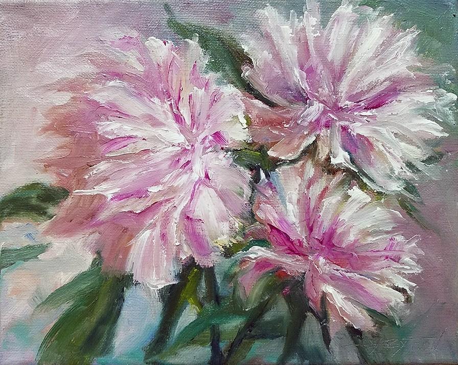"""Peonies"" original fine art by Gabriella DeLamater"