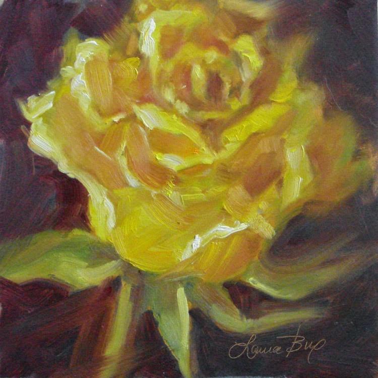 """A Rose is a Rose - 334"" original fine art by Laura  Buxo"
