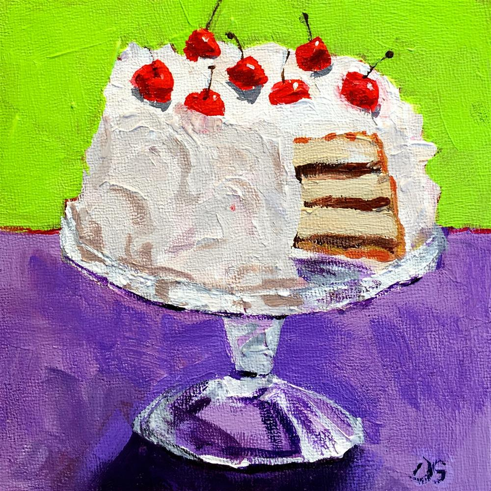 """Yum!"" original fine art by Diana Stewart"