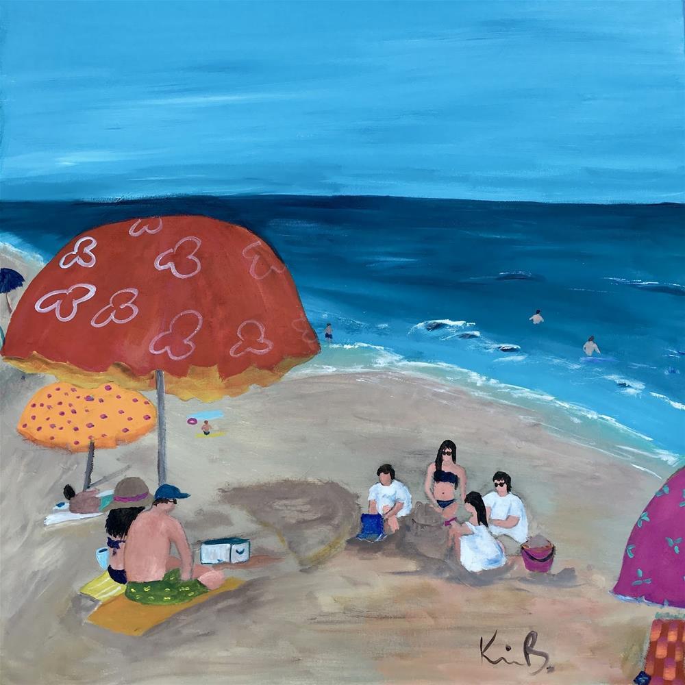 """Beach Time"" original fine art by Kimberly Balentine"