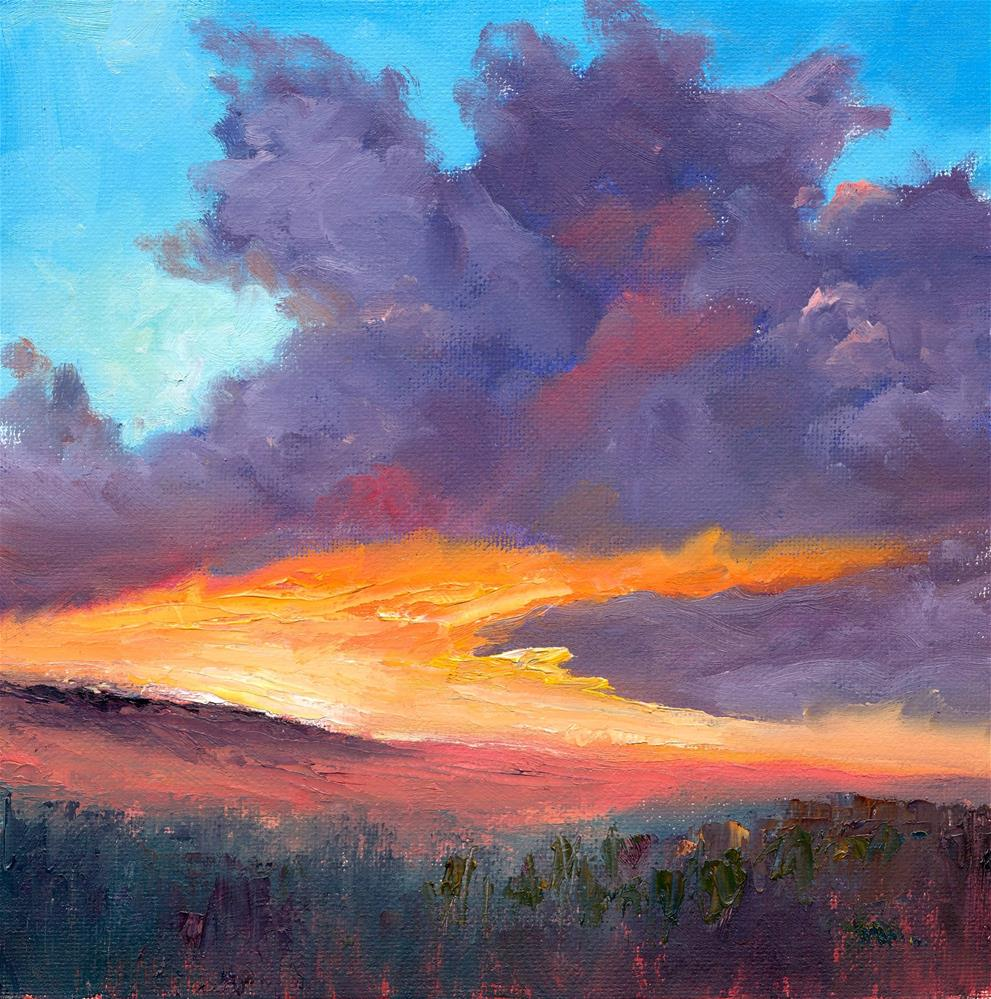 """Evening Light"" original fine art by Christine Derrick"