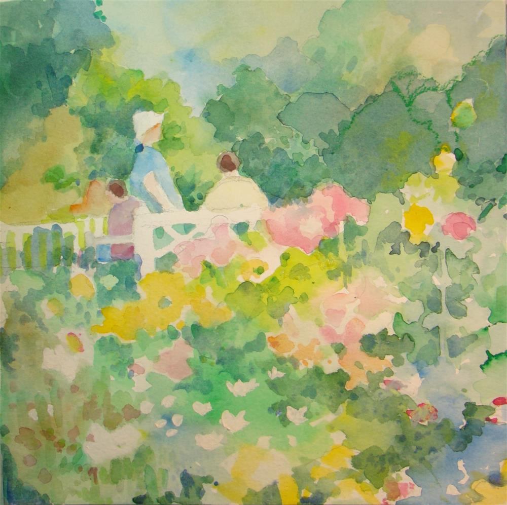 """spring in the park"" original fine art by meribeth coyne"