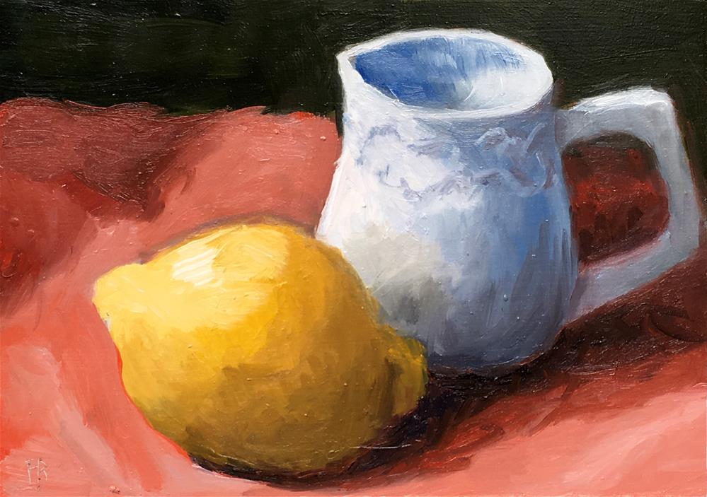 """024 Lemon and Small Pitcher"" original fine art by Fred Bell"