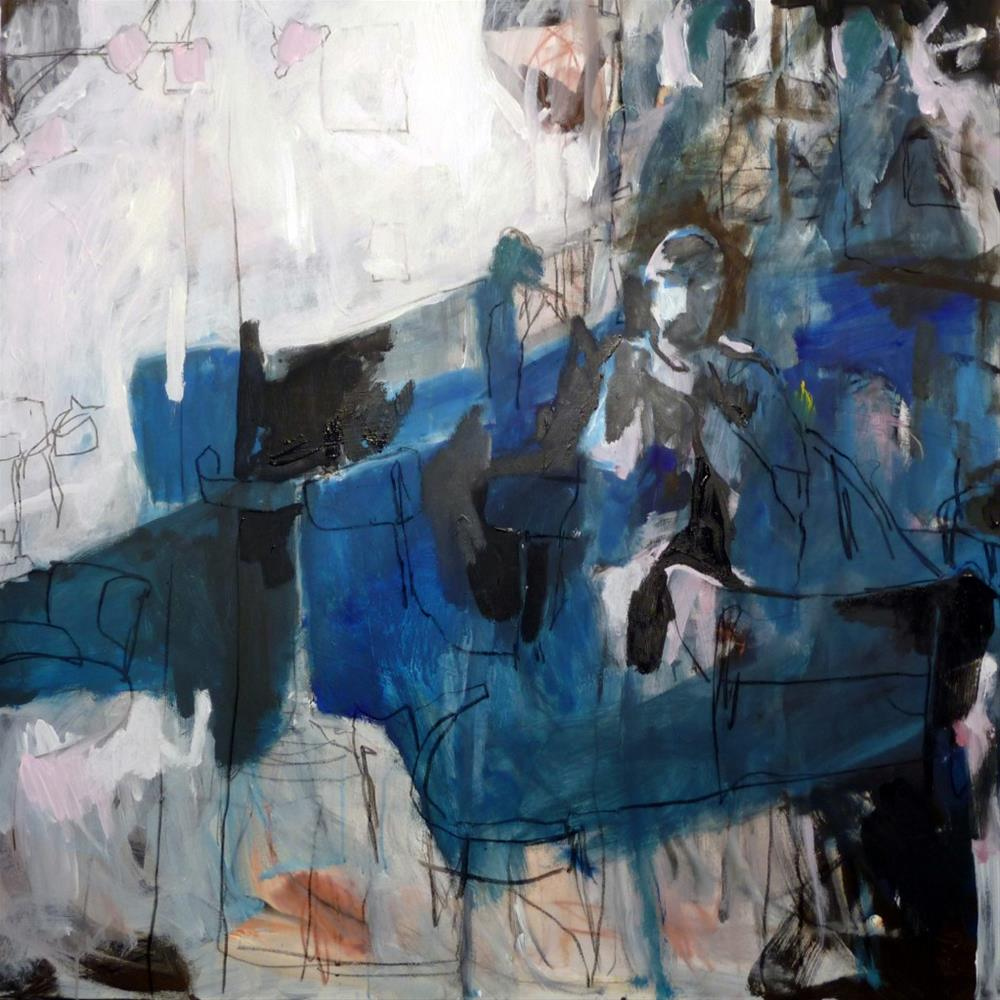 """""""in einer Bar /  in a bar"""" original fine art by Mila Plaickner"""