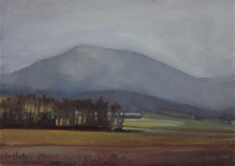 """Mountain in Haze"" original fine art by Ski Holm"