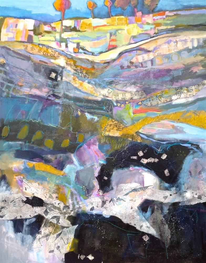 """Strata"" original fine art by Patricia MacDonald"