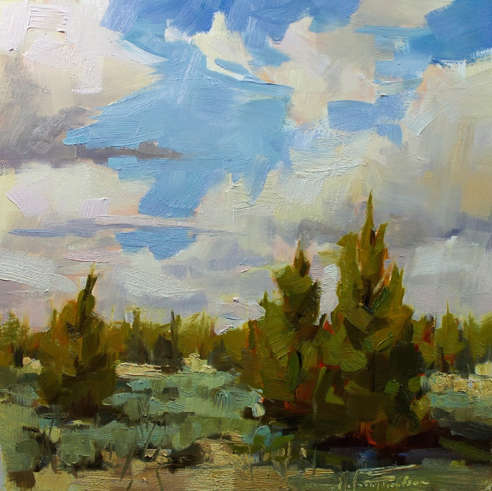 """Oregon Juniper - Day 8, 30 in 30"" original fine art by Melanie Thompson"