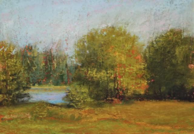"""October Woods"" original fine art by Sharon Lewis"