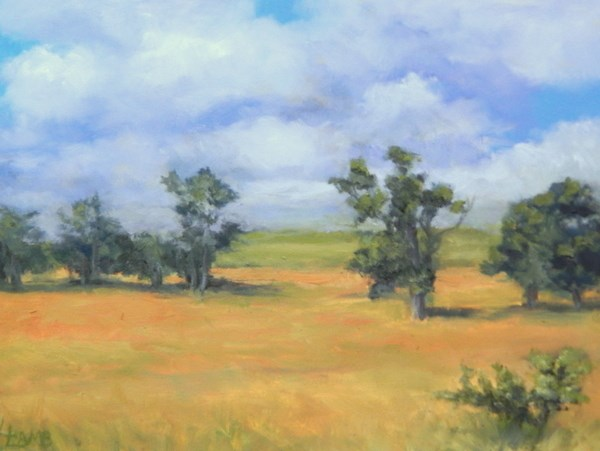 """Mid-summer Landscape"" original fine art by Lori L. Lamb"