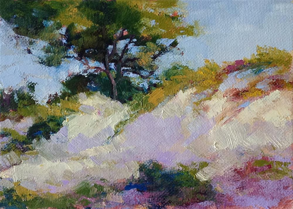 """Dunes Tree"" original fine art by Marsha Savage"