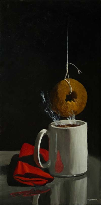 """The Martyrdom of St. Dunkin'"" original fine art by Kirk Witmer"