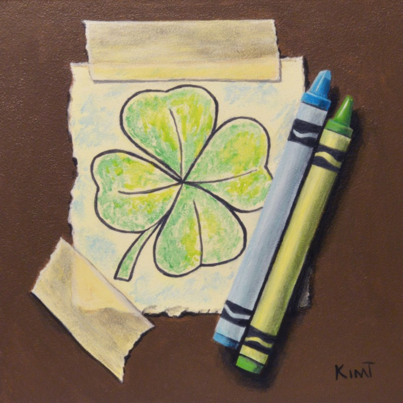 """Luck o' the Irish"" original fine art by Kim Testone"