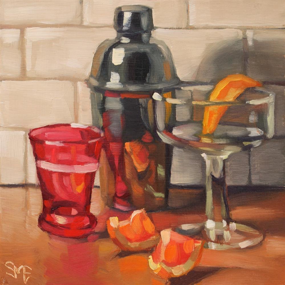 """""""Pink Drink"""" original fine art by Sheila Evans"""