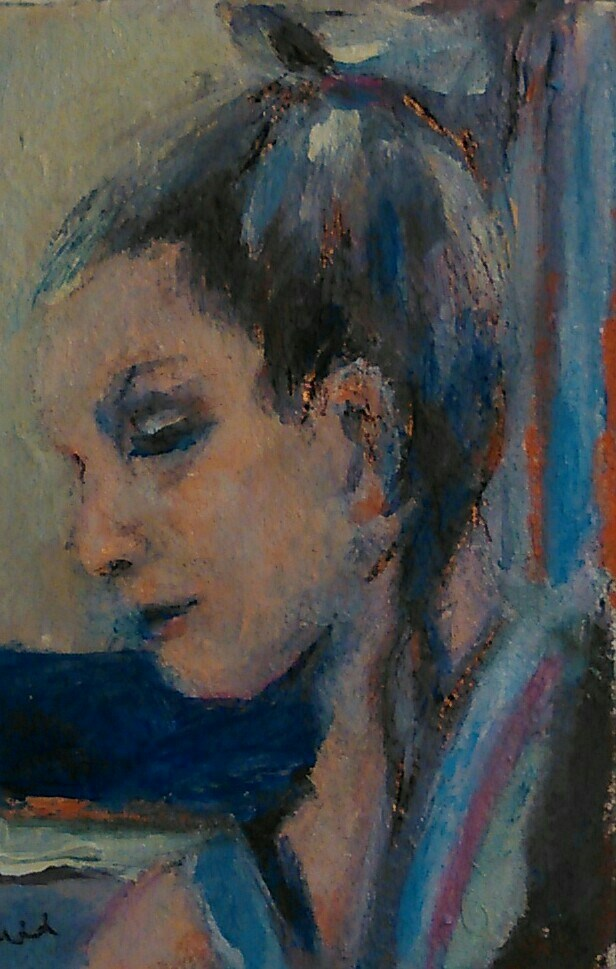"""Difficult Day"" original fine art by Ann Rudd"
