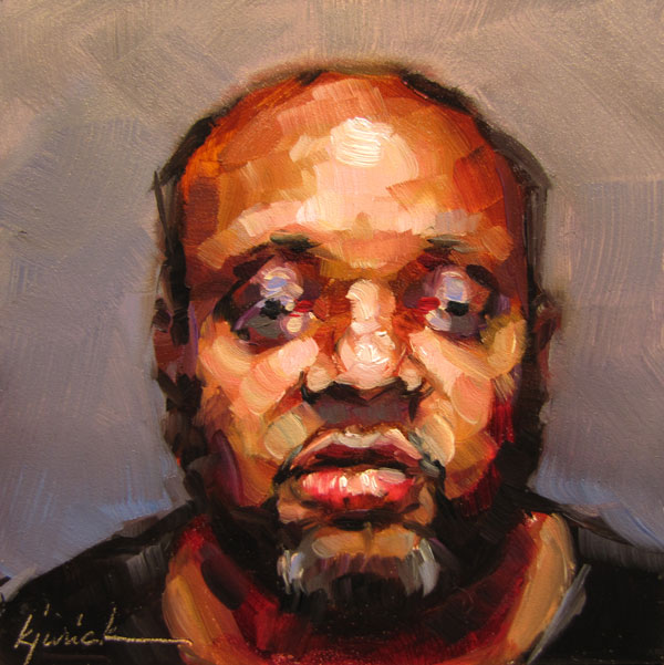 """100 Faces, No. 1"" original fine art by Karin Jurick"