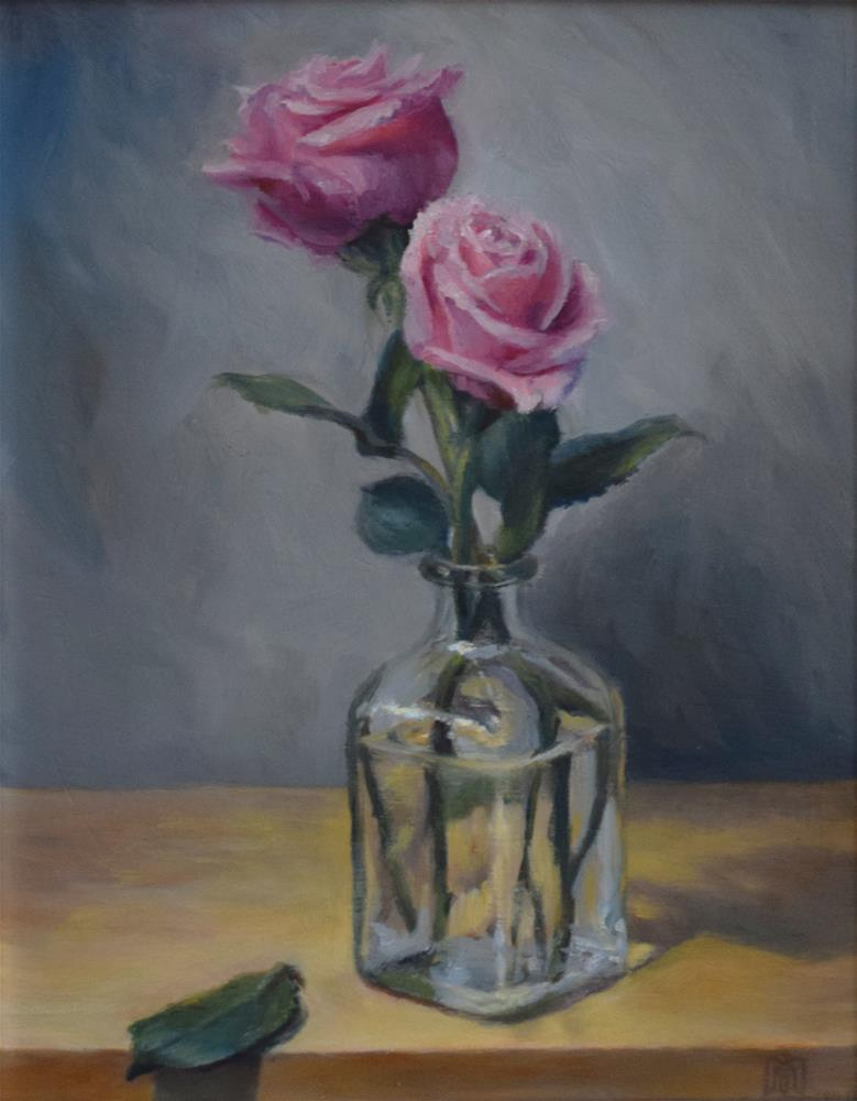 """Pink Roses"" original fine art by Melissa  Imossi"