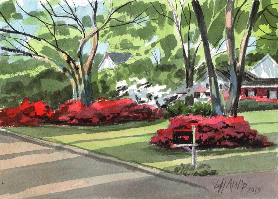 """Afternoon Azaleas"" original fine art by Jeff Atnip"
