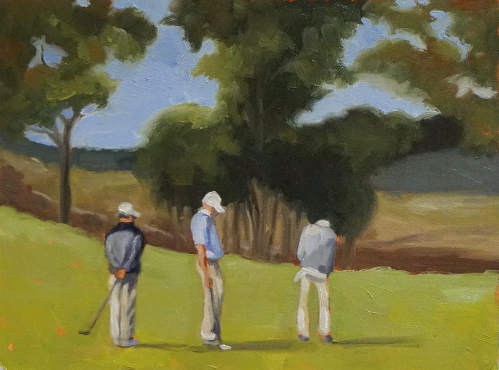 """Three of a Kind"" original fine art by Judy Elias"