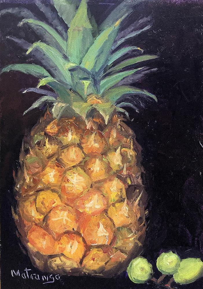 """Pineapple and Grapes"" original fine art by Patricia Matranga"