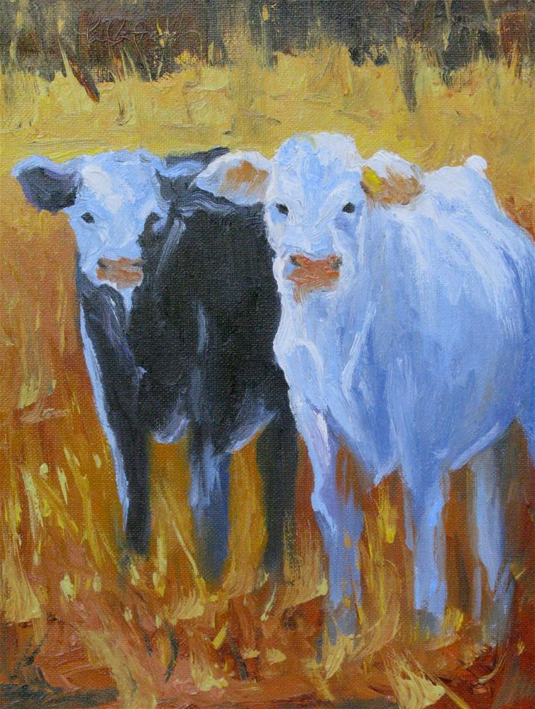 """Opposites Attract"" original fine art by kay  keyes farrar"