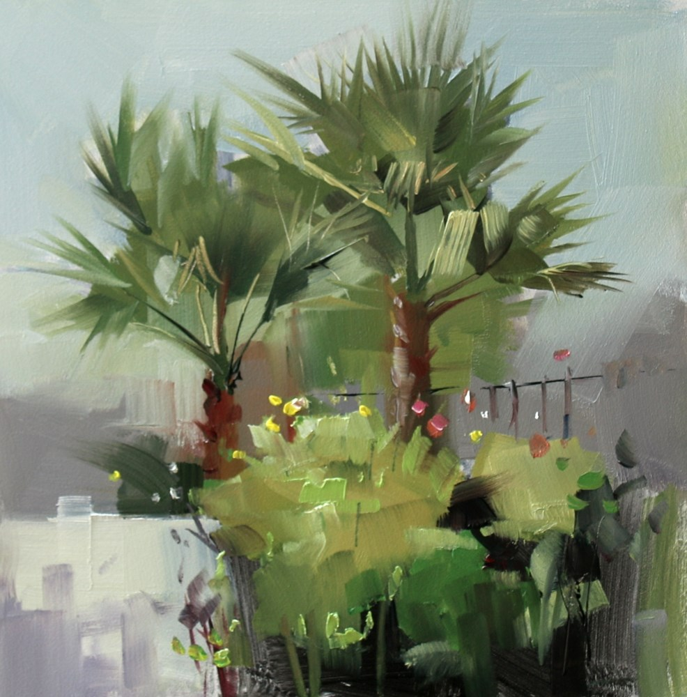 """Backyard Plein Air 1"" original fine art by Qiang Huang"