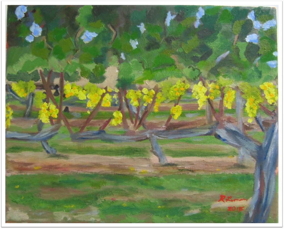 """Vineyard Majestic field 3 2012"" original fine art by Ruth Lerner"
