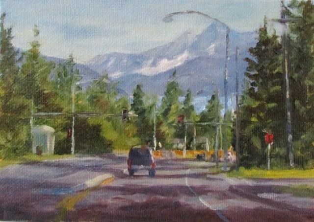 """""""Mendenhall Loop Road"""" original fine art by Christine Lewis"""