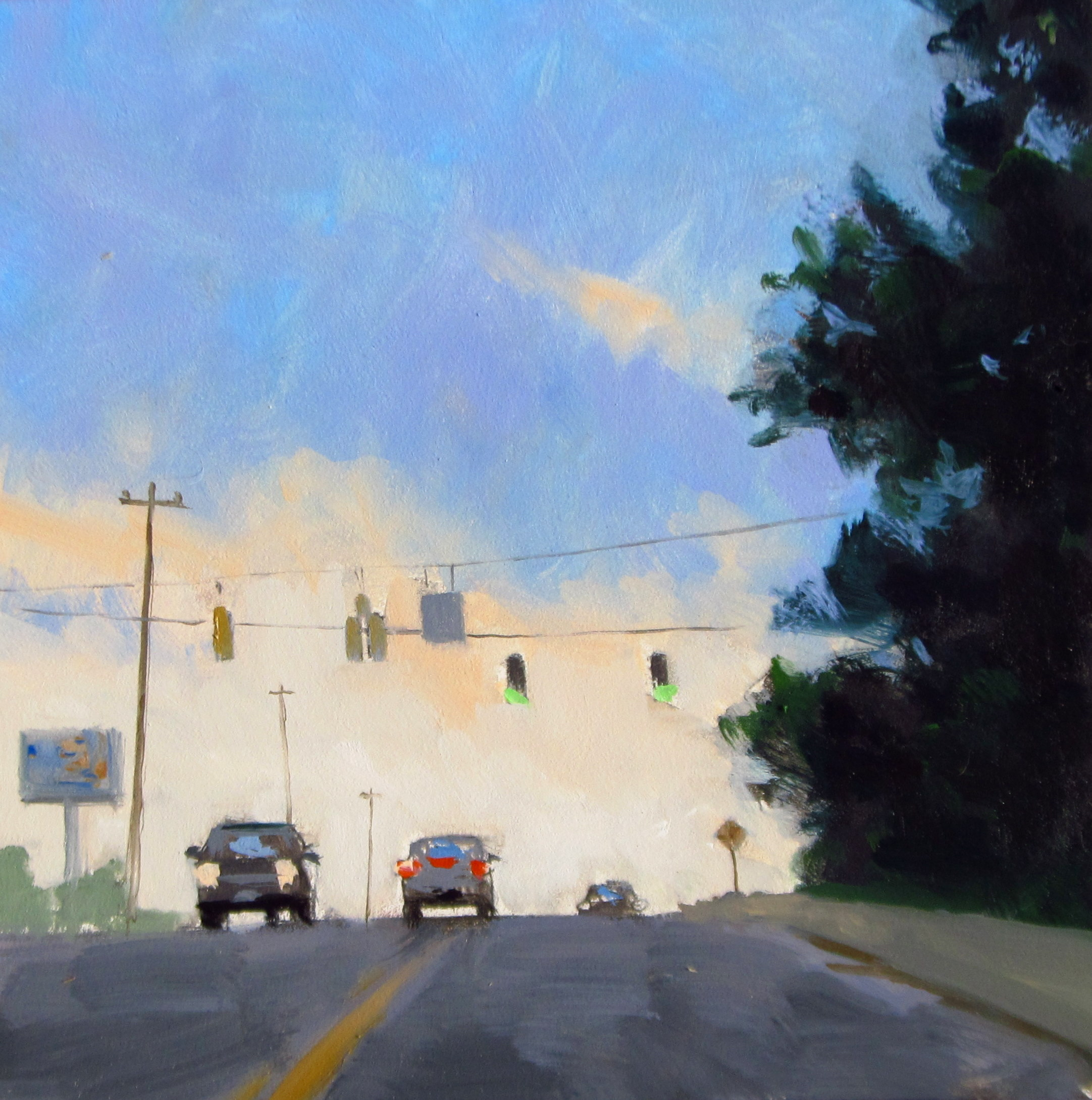 """ART 4 DIAPERS (DAILY DIAPER #186) Dusky Intersection"" original fine art by Brian Burt"