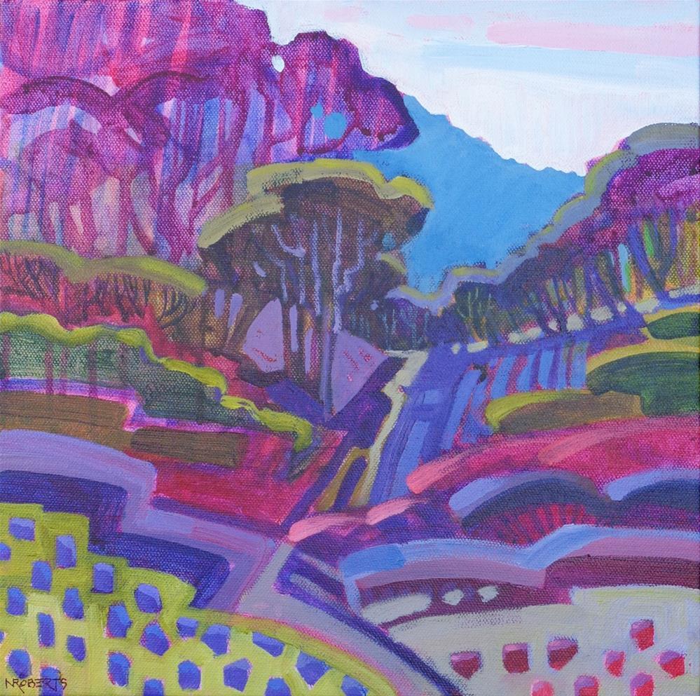 """""""Beyond the Knot Garden"""" original fine art by Nancy Roberts"""