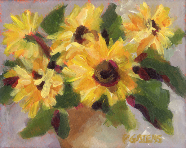"""Country Sunflowers"" original fine art by Pamela Gatens"